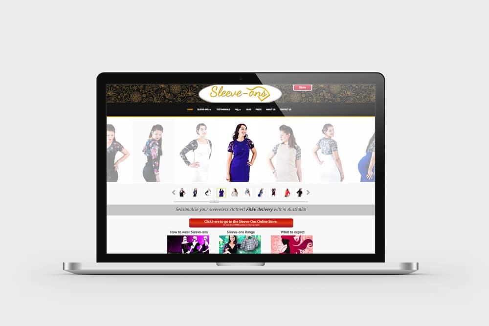 Sleeve-Ons Website Screenshot