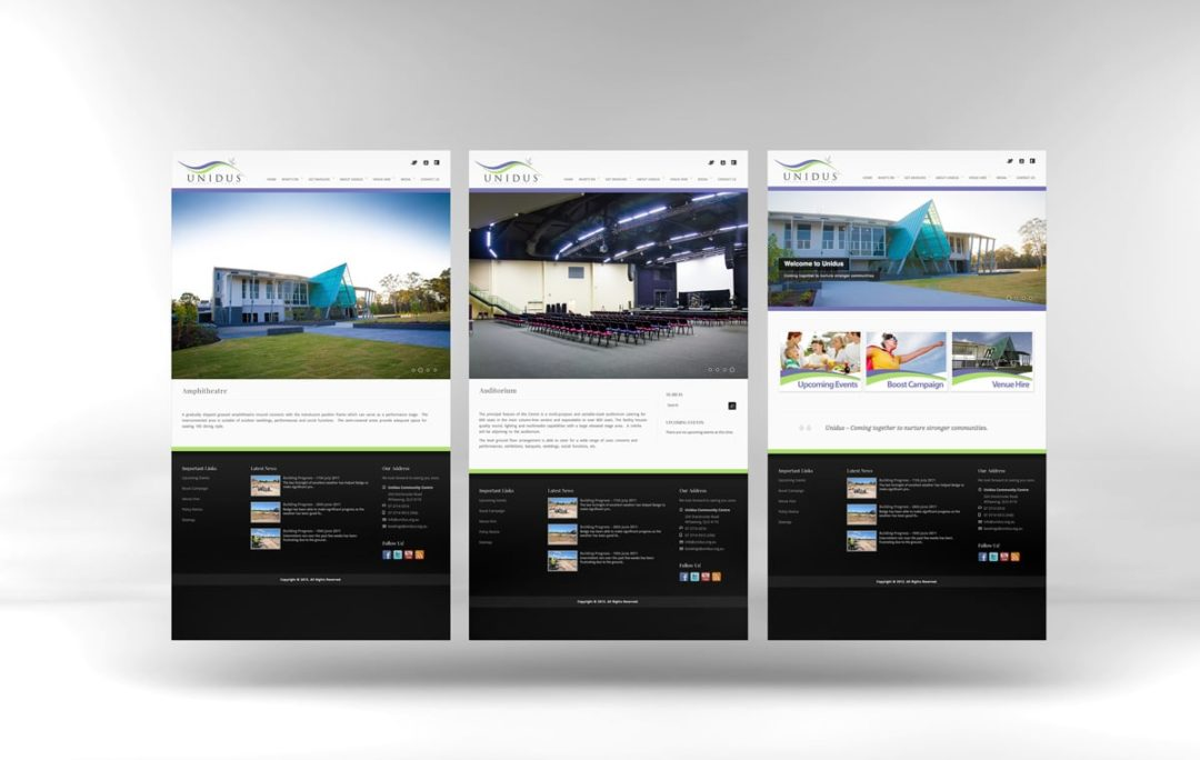 Website Designer Brisbane - Unidus Community Centre Website Mockup