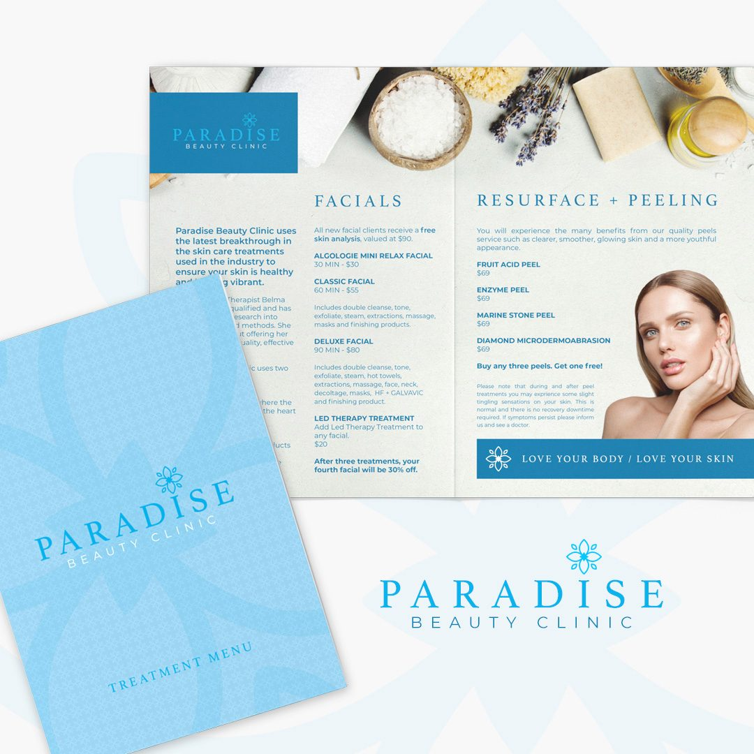 Graphic Designer Brochure Brisbane - Paradise Beauty